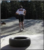 Training with a tire drag (7)