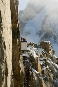 Atop Aguille du Midi on Mont Blanc