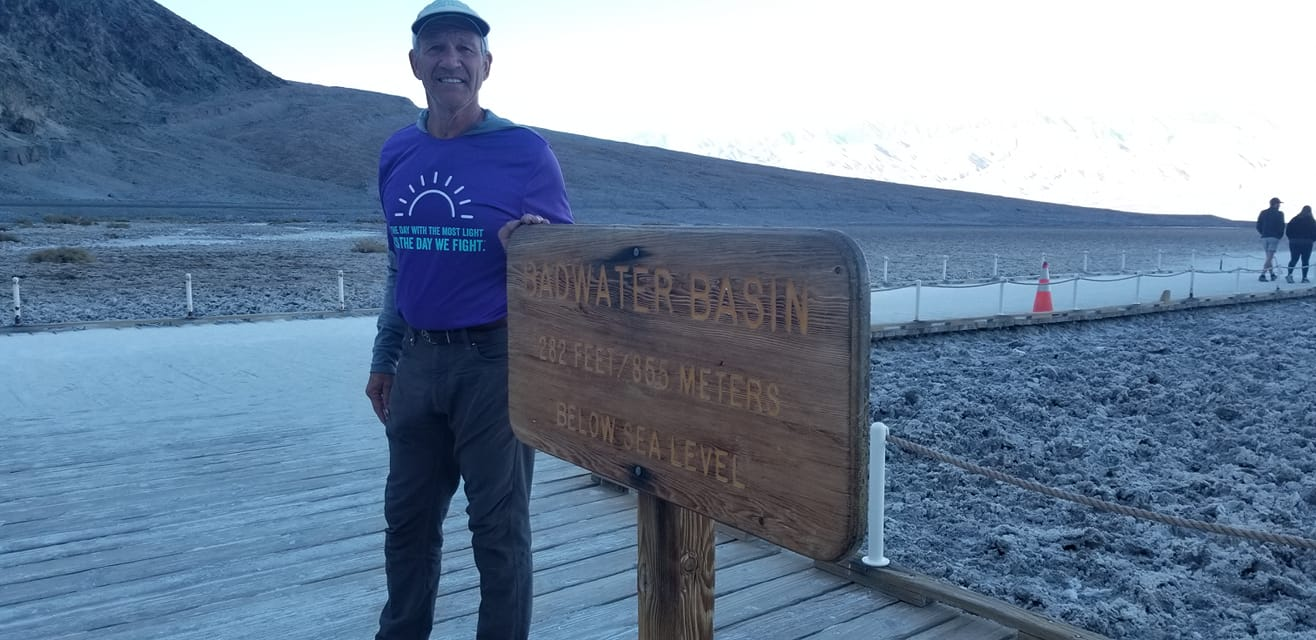 Marshall Ulrich at Badwater, start of Winter Crossing