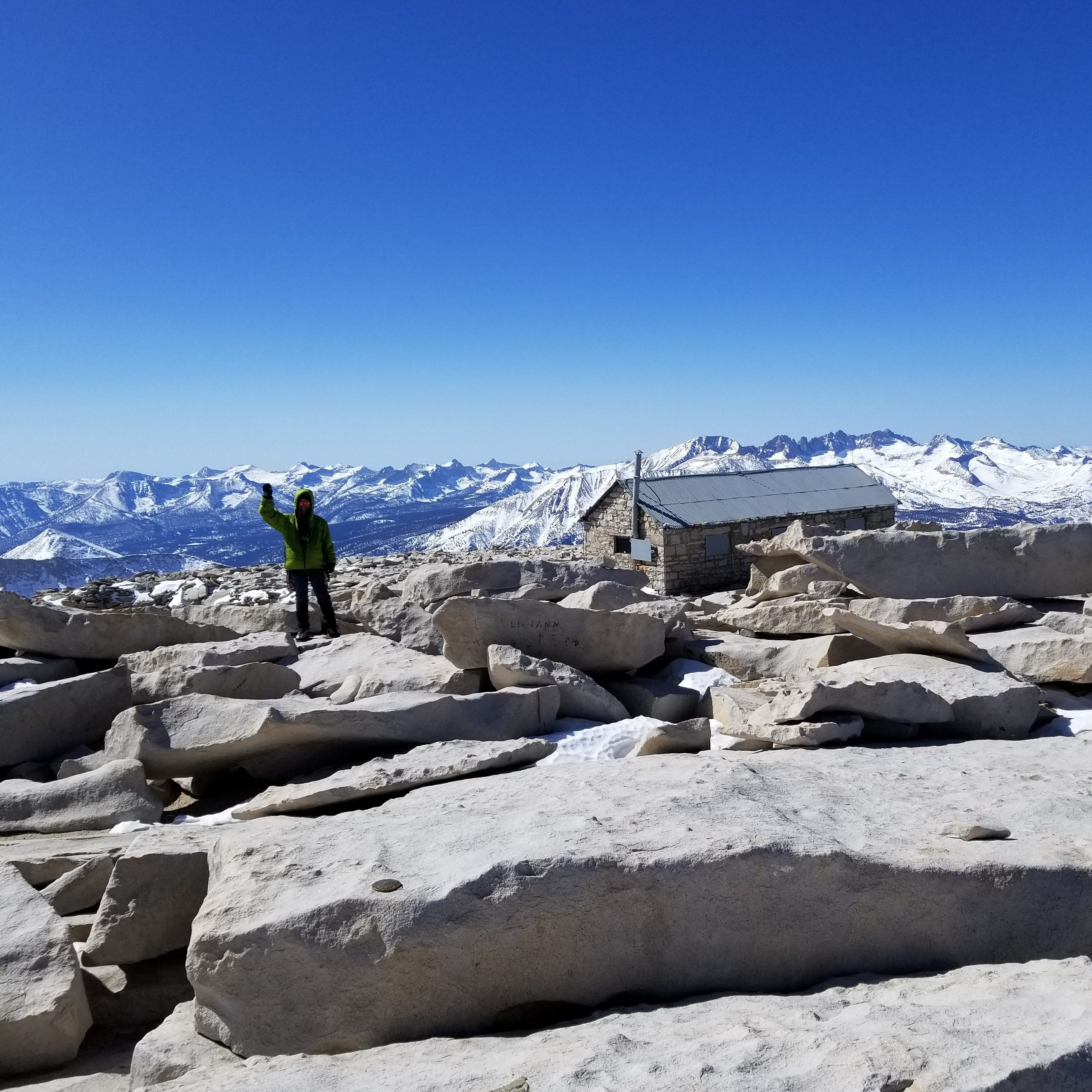 Trevor and Whitney summit hut
