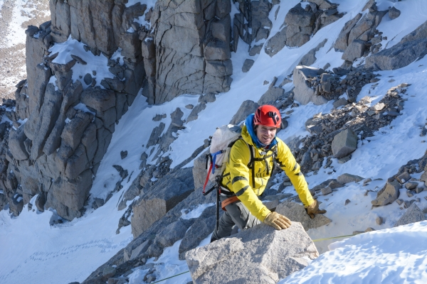 SMI roped on rock and snow